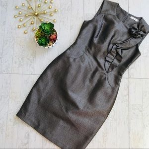 Calvin Klein metallic silver Sheath dress